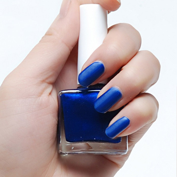 Nagellak Mat Donker Blauw