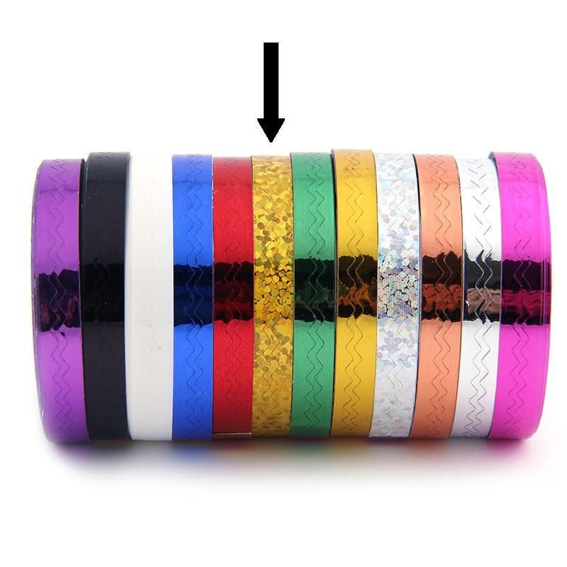 Striping Tape Glitter Goud (Golfjes)