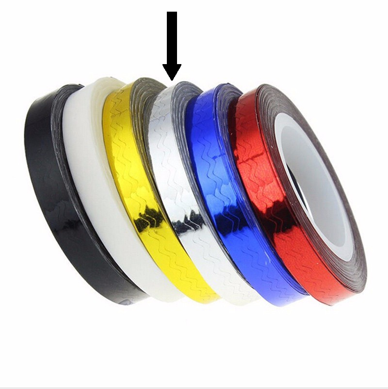 Striping Tape Zilver (Golfjes)