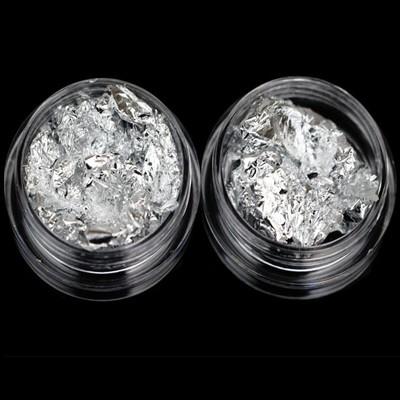 Nagelfolie Zilver