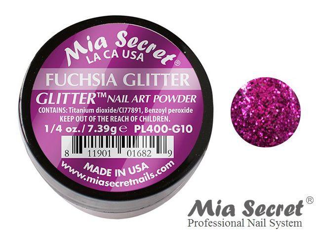 Glitter Acrylpoeder Fuchsia