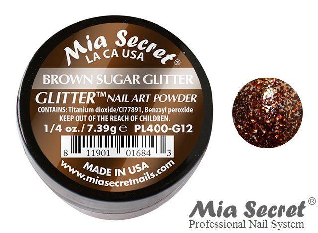 Glitter Acrylpoeder Brown Sugar