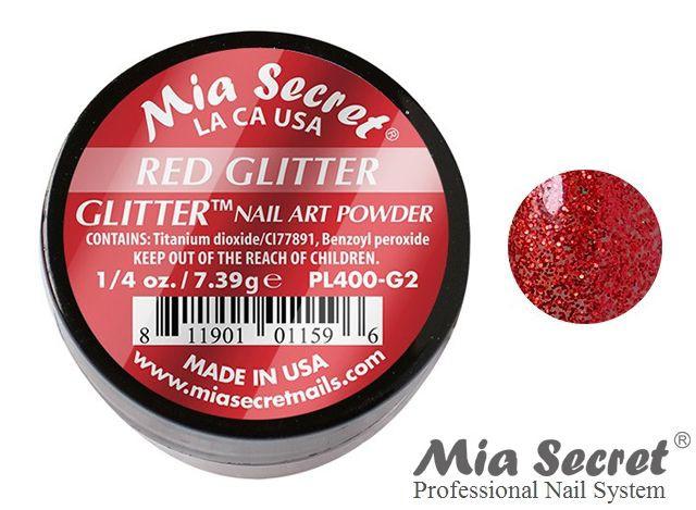 Glitter Acrylpoeder Red