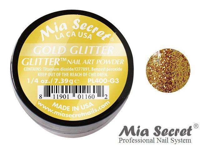 Glitter Acrylpoeder Gold