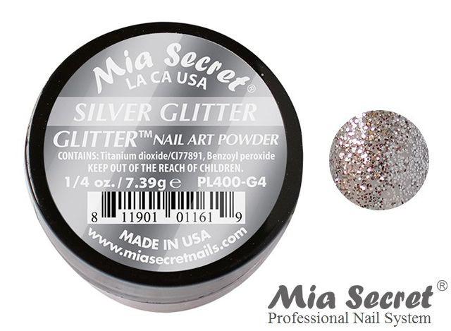 Glitter Acrylpoeder Zilver