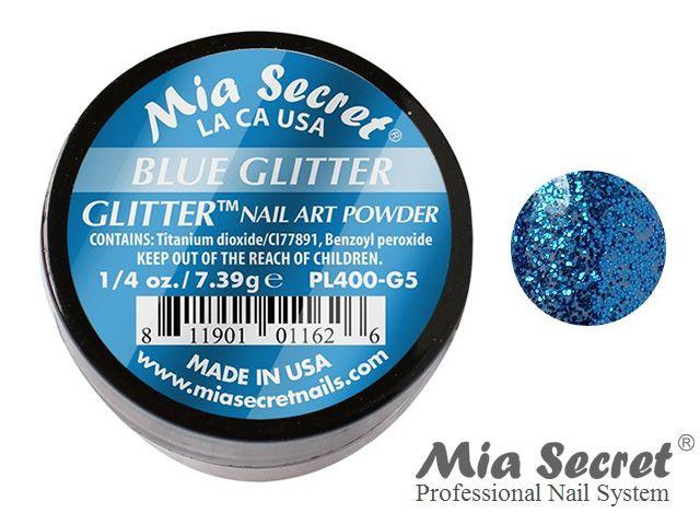 Glitter Acrylpoeder Blue