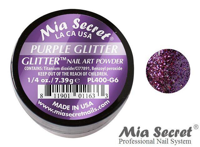 Glitter Acrylpoeder Purple