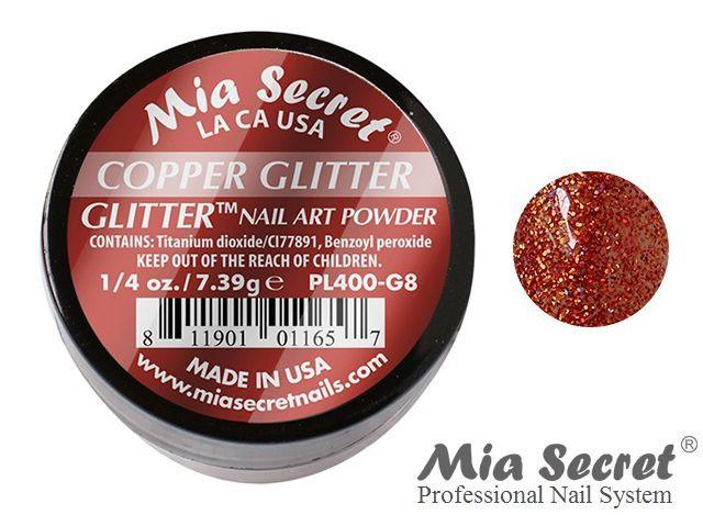 Glitter Acrylpoeder Copper
