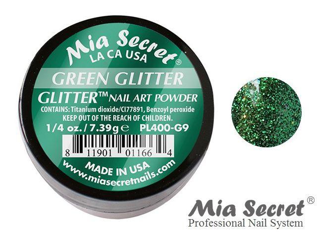 Glitter Acrylpoeder Green