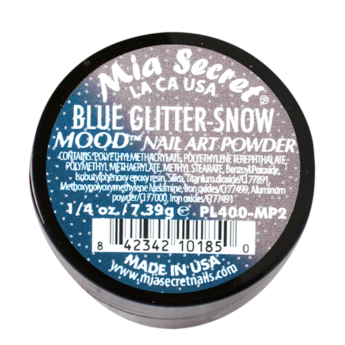 Mood Acrylpoeder Blue Glitter-Snow
