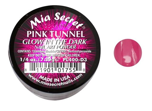 Glow in the Dark Acrylpoeder Pink Tunnel