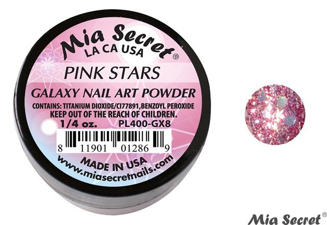 Galaxy Acrylpoeder Pink Stars