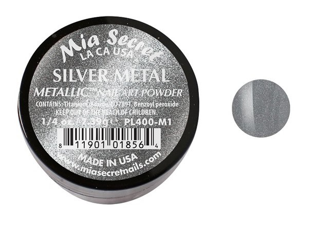 Metallic Acrylpoeder Silver Metal