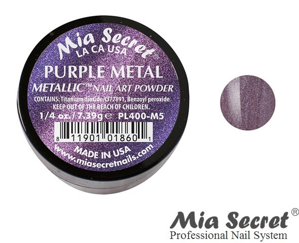 Metallic Acrylpoeder Purple Metal