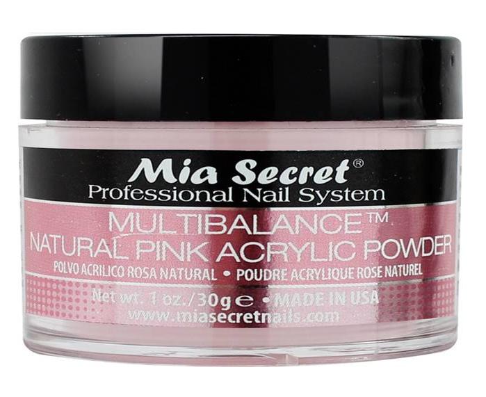 Acryl Poeder Natuurlijk Roze 30ml.