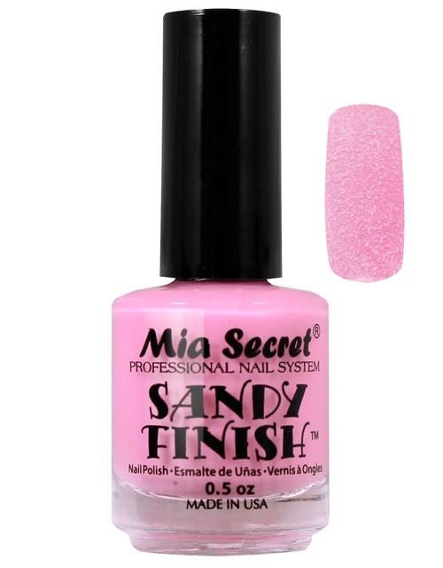 Sandy Finish Nagellak Licht Roze