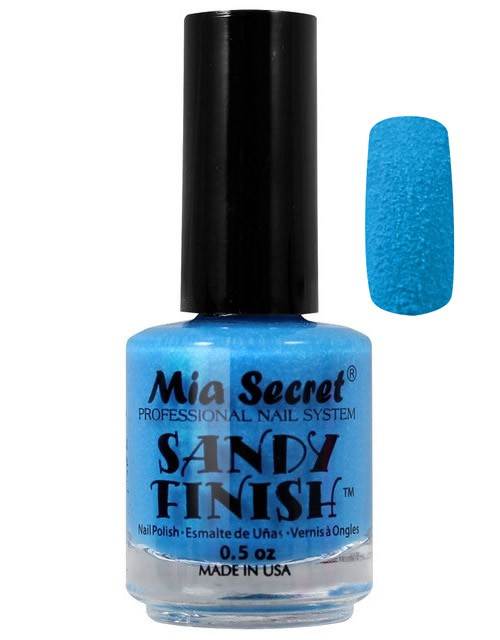 Sandy Finish Nagellak Blauw