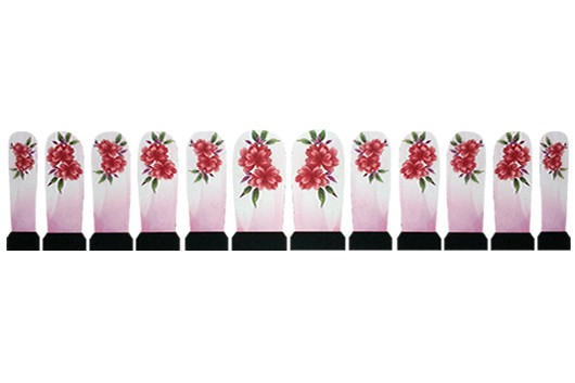 Nagelstickers Rode Bloemen