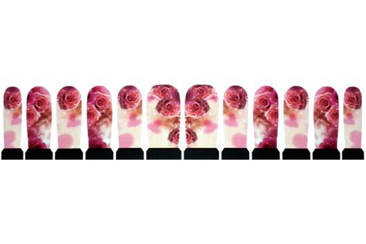 Nagelstickers Rozen Pink