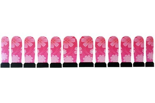 Nagel Sticker Roze Bloemen