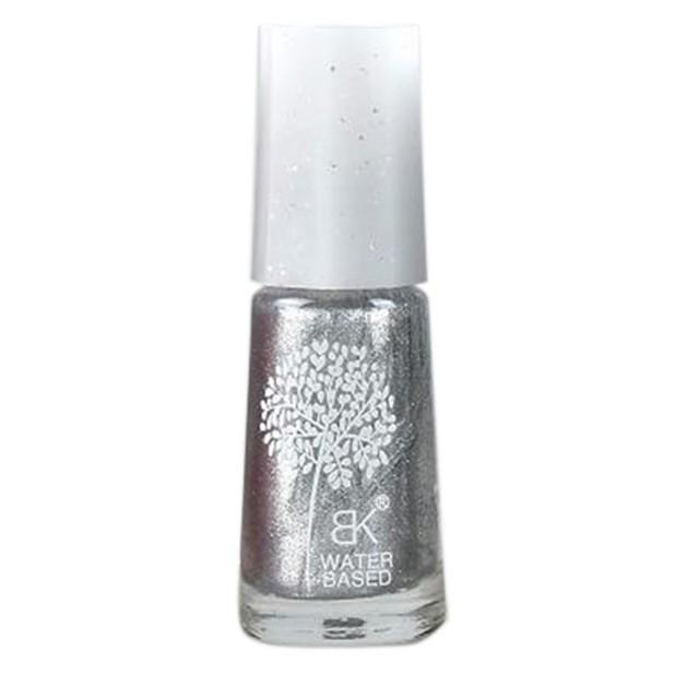 Waterbasis Nagellak Glitters Zilver