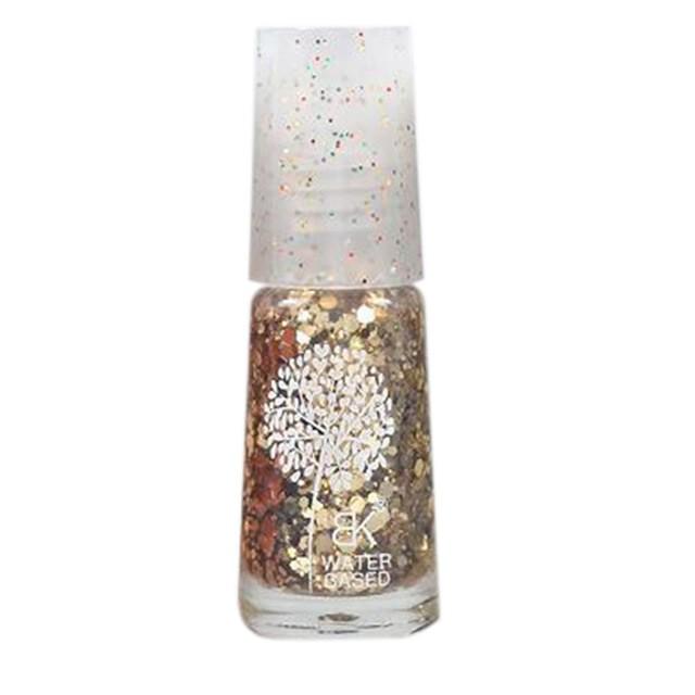 Waterbasis Nagellak Glitters Goud (Grof)