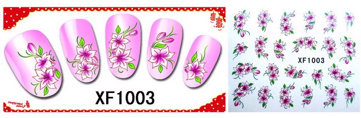 Water Transfer Sticker Roze Wit Bloemen