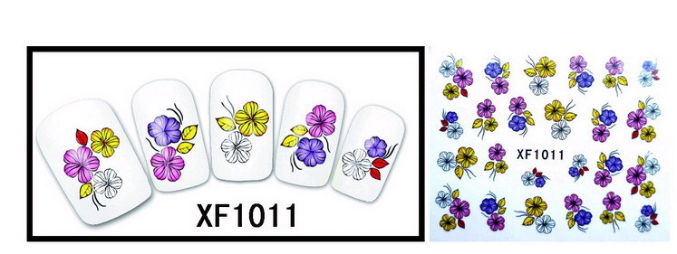 Water Transfer Sticker bosje bloemen