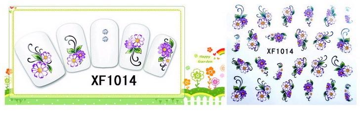 Water Transfer Sticker Paars Witte Bloemen