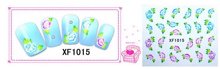 Water Transfer Sticker Blauwe en Roze Bloemen