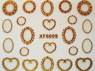 3D Nagelstickers Goud Spiegels
