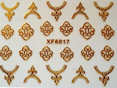 3D Nagelstickers Goud Sierlijk