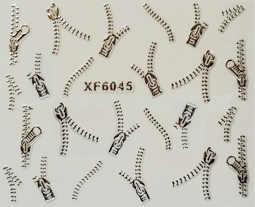 3D Nagelstickers Zilver Ritsen