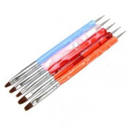 Marmer Acryl Penselen met druppelpen (5 kleuren)