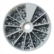 Nail Art Steentjes Carrousel Zilver 6cm, 660 stuks