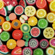 Fimo Fruit Close-up