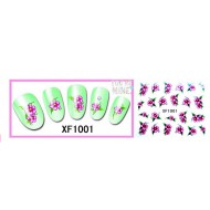 Water Transfer Sticker Roze Bloemen