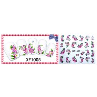 Water Transfer Sticker Roze Margriet