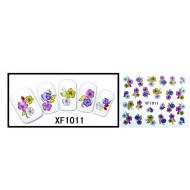 Water Transfer Sticker bosje bloemen