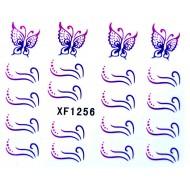 Water Transfer Sticker Schitterende Vlinder