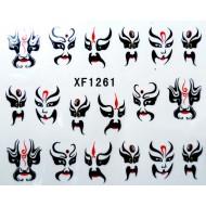 Water Transfer Sticker Sierlijke Maskers