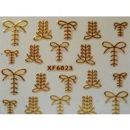 3D Nagelstickers Goud Schoenveters