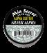 Alpha & Dust Glitter Acrylpoeder Silver Alpha
